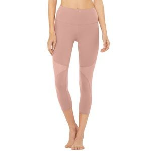 Alo Coast High Waist Capri Pants Smokey Quartz